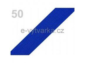 Popruh polypropylén š.24mm (5m) - modrá sytá