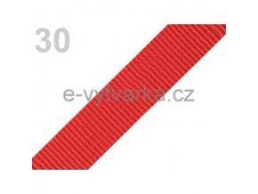Popruh polypropylén š.24mm (5m) - ohnivá červeň