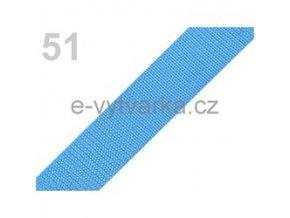 Popruh polypropylén š.24mm (5m) - modrá azuro