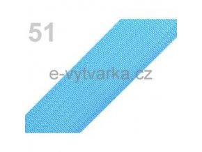 Popruh polypropylén š.40mm (5m) - modrá azuro