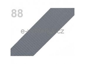 Popruh polypropylén š.40mm (5m) - šedá stř.