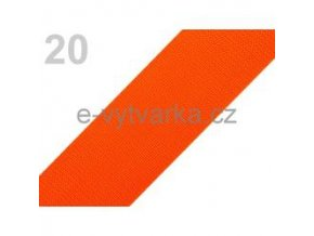 Popruh polypropylén š.50mm (5m) - oranžová