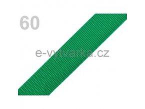 Popruh polypropylén š.24mm (5m) - zelená májová