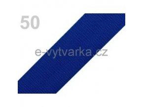 Popruh polypropylén š.40mm (5m) - modrá sytá