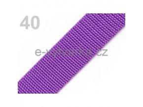 Popruh polypropylén š.40mm (5m) - ostružinová