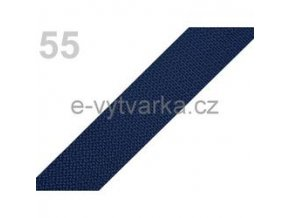 Popruh polypropylén š.24mm (5m) - modrá tm.