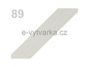 Popruh polypropylén š.24mm (5m) - šedá sv.