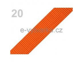 Popruh polypropylén š.24mm (5m) - oranžová