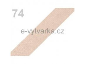 Popruh polypropylén š.24mm (5m) - jantar sv.