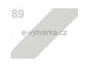 Popruh polypropylén š.40mm (5m) - šedá sv.