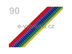 Popruh polypropylén š.24mm (5m) - pestrobarevná