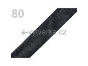 Popruh polypropylén š.24mm (5m) - šedá tm.
