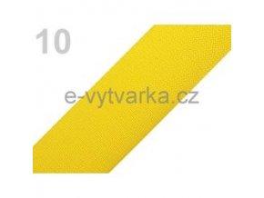 Popruh polypropylén š.50mm (5m) - sytá žluť