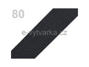 Popruh polypropylén š.40mm (5m) - šedá tm.