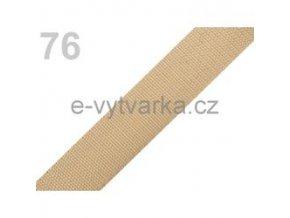 Popruh polypropylén š.24mm (5m) - písková