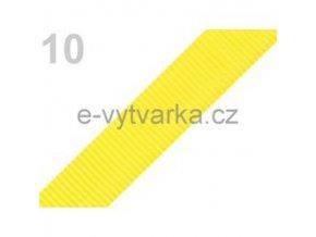 Popruh polypropylén š.24mm (5m) - sytá žluť