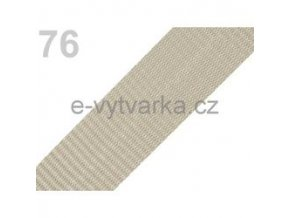 Popruh polypropylén š.40mm (5m) - písková