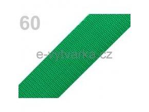 Popruh polypropylén š.40mm (5m) - zelená májová