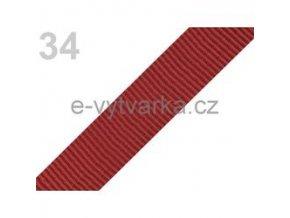 Popruh polypropylén š.24mm (5m) - tm. červeň