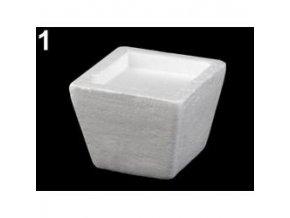 Polystyrenový květináč 7,5x7,5cm (1ks)