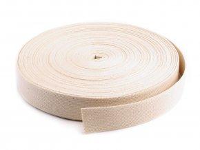 Bavlněný popruh š.30 mm (5m) - béžový