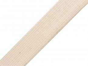 Bavlněný popruh š.20 mm (5m) - béžový