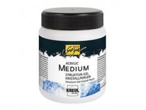 Akrylový strukturovací gel - křišťálové perly (250 ml)