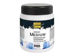 Akrylový strukturovací gel - hedvábně matný (250 ml)