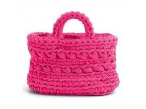 SET Hoooked Zpagetti košík - Pink