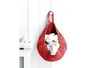 SET Hoooked Zpagetti závěsný košík - Coral