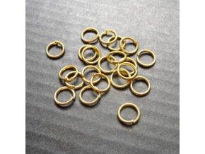 Spojovací kroužky pr.5 mm (50-1000ks) - zlato