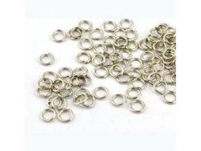 Spojovací kroužky pr.6 mm (50-1000ks) - platina