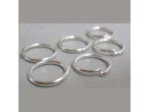 Spojovací kroužky pr.5 mm (50-1000ks) - stříbro