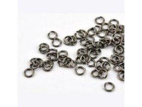 Spojovací kroužky pr.6 mm (50-1000ks) - hematit