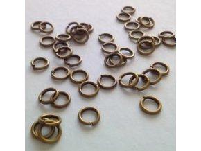 Spojovací kroužky pr.6 mm (50-1000ks) - staromosaz