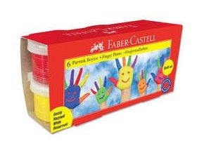 Prstové barvy Faber Castell, 6 barev 45 ml