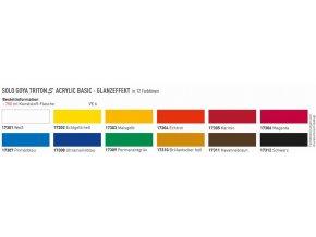 Akrylové barvy Solo Goya TritonS Acrylic Lesklé (750 ml) - 18 odst.