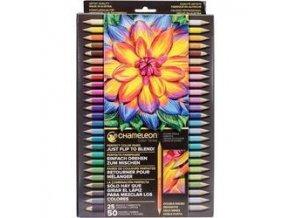 Oboustranné pastelky Chameleon 25ks - 50 odstínů
