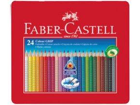 Pastelka Faber-Castell Grip 2001 plech.krabička 24ks