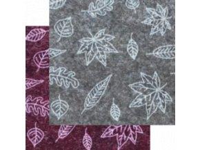 Dekorativní plsť / filc Podzim 1ks, 30x40x0,1cm - 2 barvy