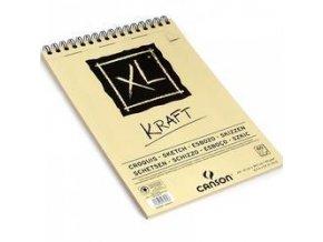 XL Kraft - kroužková vazba (90g/m2) A5, A4, A3