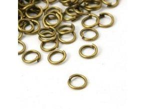 Spojovací kroužky pr.5 mm (50-1000ks) - staromosaz
