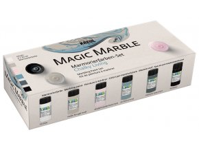 Sada Mramorovací barva Magic Marble Křídové barvy (6x20ml)