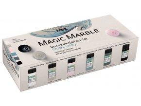 Sada Mramorovací barva Magic Marble Křídové barvy 6 x 20 ml