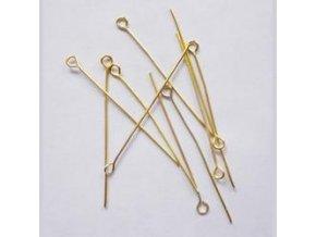 Ketlovací jehly 40 mm (50-1000ks) - zlato