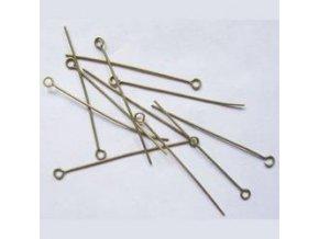 Ketlovací jehly 50 mm (50-1000ks) - staromosaz