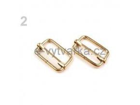 Posunovač na popruhy 13x20 mm (10ks) - zlatá