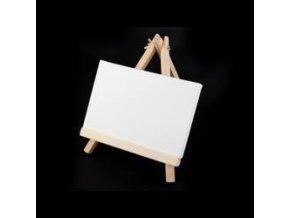 Mini malířský stojan s plátnem 18x23cm