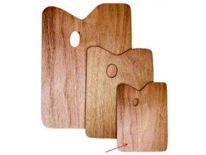 Obdélníková paleta, dřevěná - tl.5 mm (20 x 30 cm)