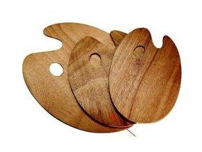 Oválná paleta, dřevěná - tl.5 mm (25 x 30 cm)